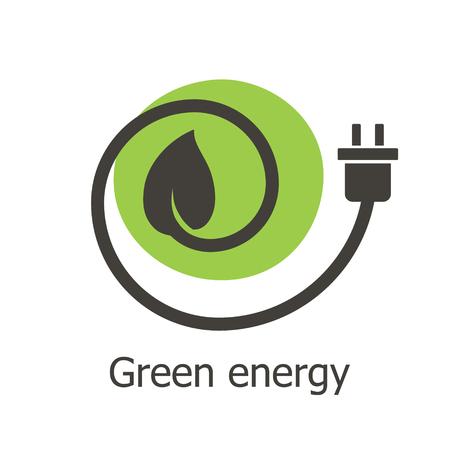 Green energy  icon Ilustração