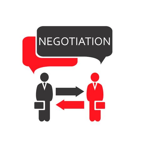 Negotiation Vector Icon. Negotiation Icon EPS. Negotiations Vector Concept. Ilustracja