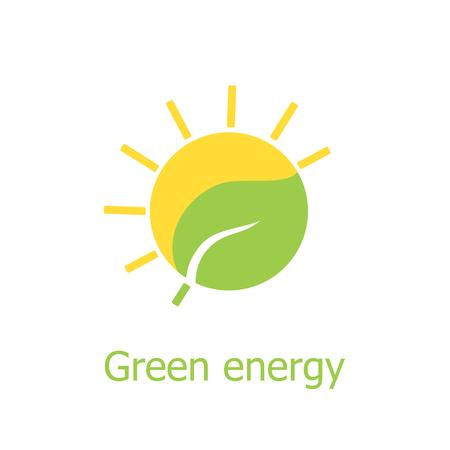 Green energy vector icon. Solar energy icon