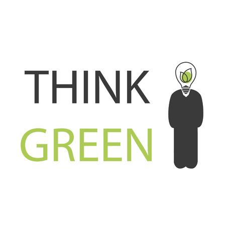 Think green vector icon Ilustração