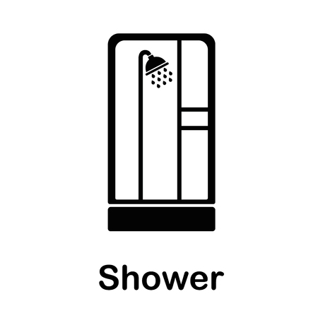 Shower icon vector graphic