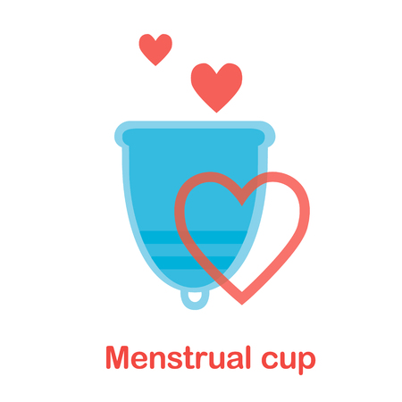 Menstrual cup - feminine hygiene product, device for collecting blood during menstruation and period.