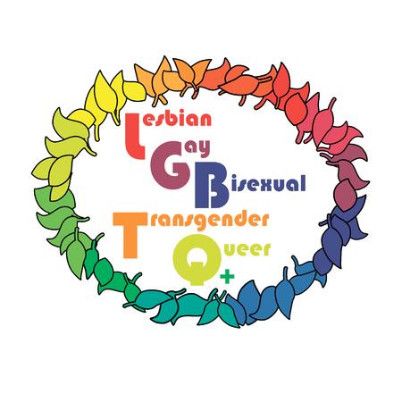 LGBTQ logo Conceptual design. Ilustração