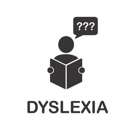 Vector  of dyslexia disorder icon.