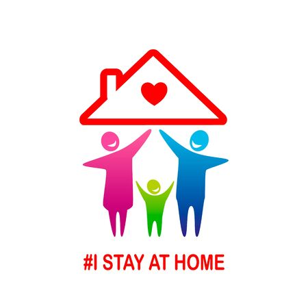 I stay at home awareness social media campaign and coronavirus prevention
