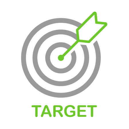 Target flat vector icon. Dartboard flat vector icon Illustration