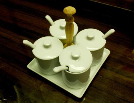 ware: ware of Thai condiments Stock Photo