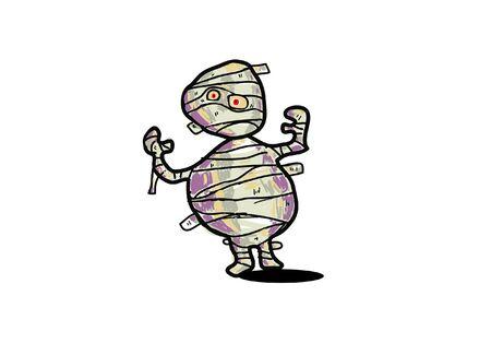 dirty: dirty mummy Illustration