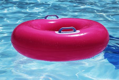 swim: swim ring in clear water Stock Photo