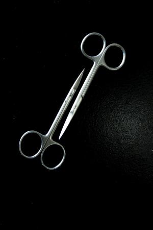 by pass surgery: Operating  scissor Stock Photo