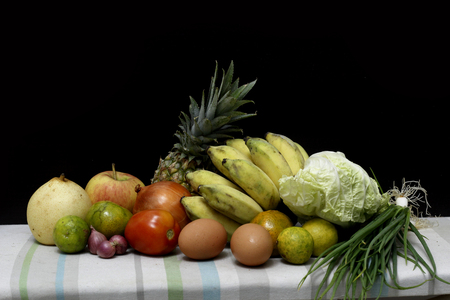 fruit and vegetable set still life style