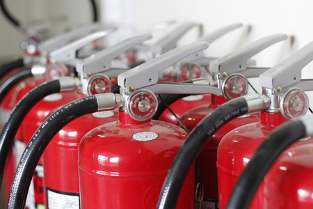 fire extinguishers: used fire extinguishers