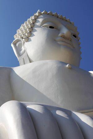 budda: face of white budda statue