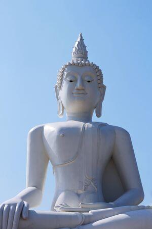 budda: white budda statue