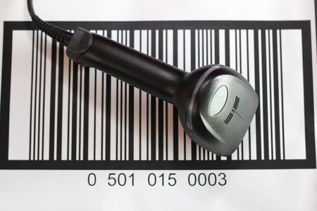 barcode scanner: barcode scanner with barcode background