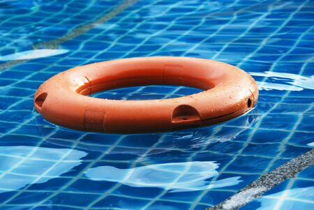 buoy: life buoy in swimming pool
