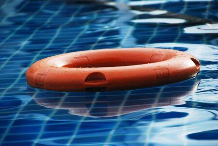 life buoy in swimming pool
