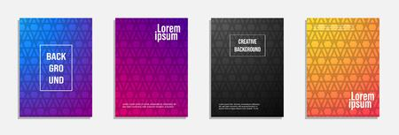 Colorful and modern cover design. Set of geometric pattern background design Ilustrace