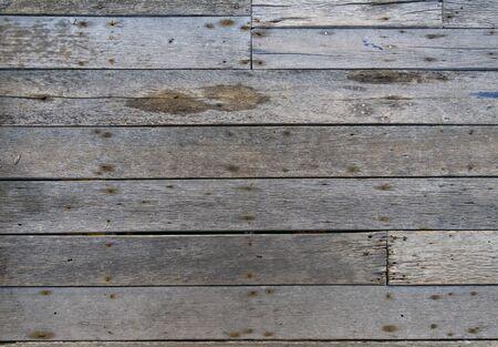 Old wooden walkway-Texture wood
