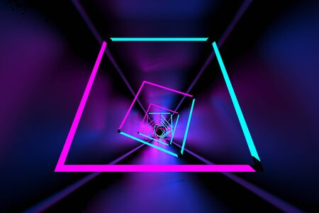 3d rendering of backgrounds abstract. 3d illustration of simple Geometric. Colorful illumination
