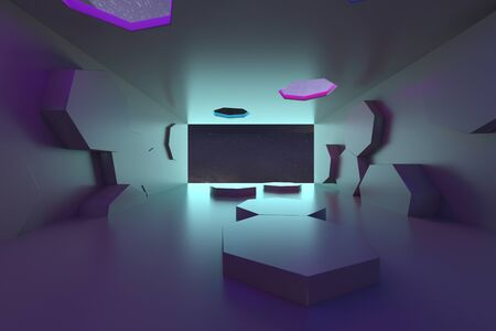 3d rendering of backgrounds abstract. 3d illustration of simple Geometric Stockfoto - 138470968