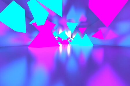 3d rendering of backgrounds abstract. 3d illustration of simple Geometric. Colorful illumination Stockfoto - 138470922
