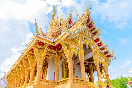pa: Wat Pa Saeng Arun temple in Khon Kaen, Thailand.