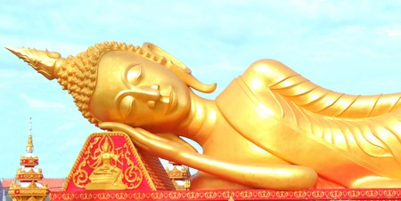 Reclining Buddha images in laos