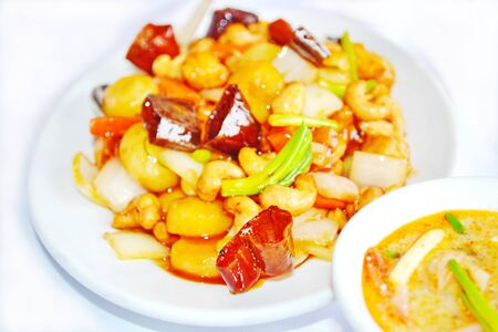 Fried Chicken with cashew nuts  photo