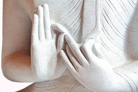 Granite Buddha in Laos  photo