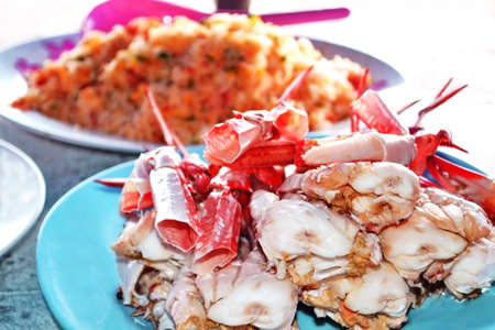 Seafood    Steamed crab photo