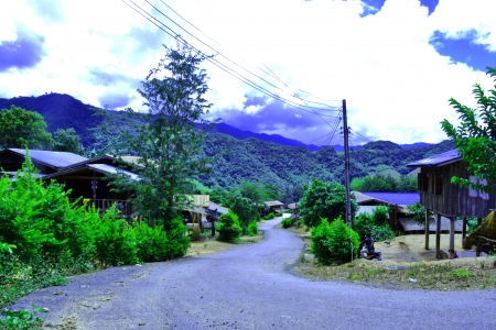 Villages in the country s remote rural Thai Stock Photo - 22605721