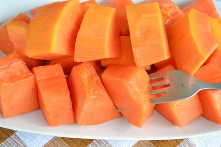 cutaneous: Sweet papaya fruit