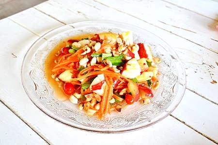 Fruit Salad with Chocolate Sauce  photo