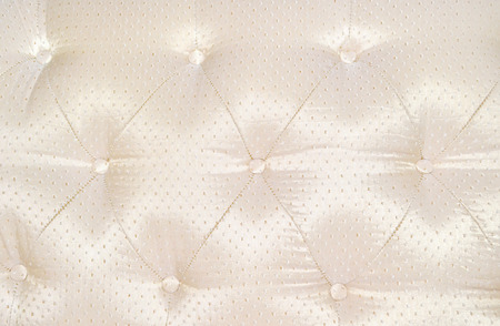 button tufted: White Leather Upholstery Background  Stock Photo