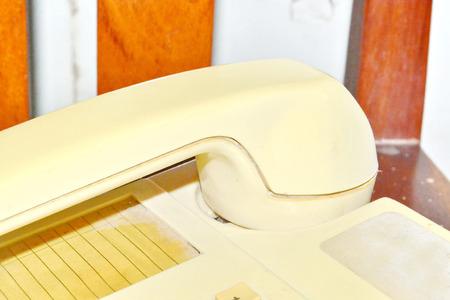 Retro telephone reciver  photo