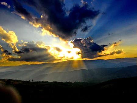 heaven: Beautiful cloudscape with sunray