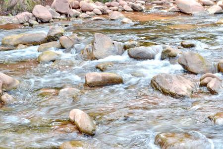 warm water fish: Table Rock Mountain Stream Stock Photo