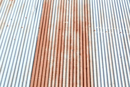 grooved: Rusty metal texture