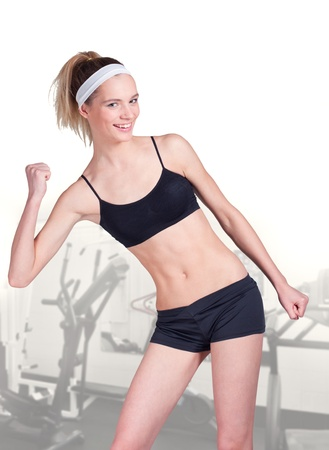 woman measuring perfect shape of beautiful waistline healthy lifestyles concept photo