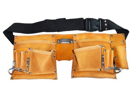Leather belt for tools on a white background Stock Photo - 12195774