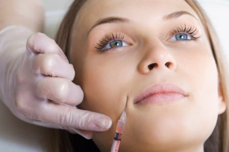 injection: botox or hyaluronic acid injection
