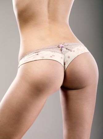 junge nackte mädchen: sexy Hintern Mädchen in Unterwäsche Lizenzfreie Bilder