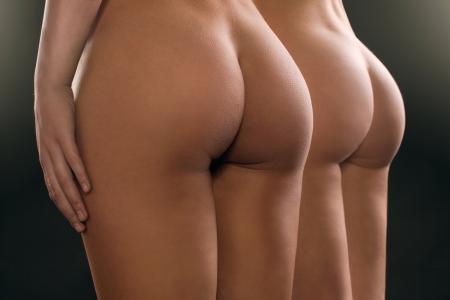 young nude girl: sexy Hintern Mädchen in Unterwäsche Lizenzfreie Bilder