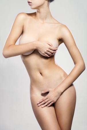 tetas: Cuerpo perfecto, aislado, fondo blanco