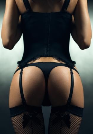 sexy girl nue: filles sexy en sous-v�tements en bout Banque d'images
