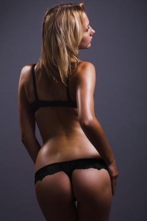 nude woman posing: sexy butt girls in underwear