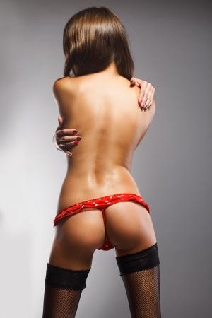 sexy nackte frau: sexy Hintern M?dchen in Unterw?sche Lizenzfreie Bilder