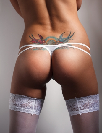 sexy butt girls in underwear photo