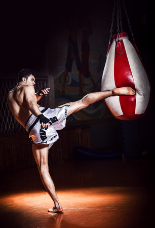 Thai boxing Artem Levin in studio